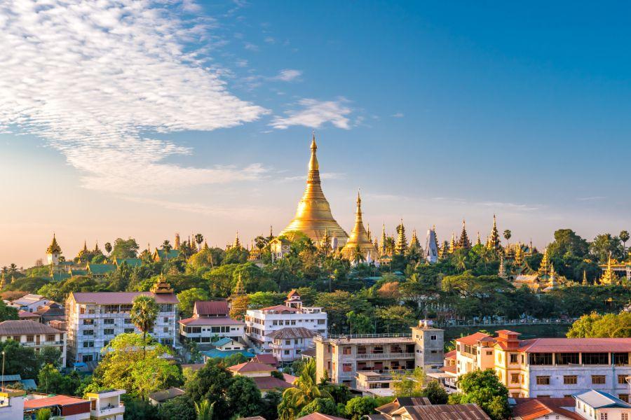 Myanmar Yangon pagodes landschap