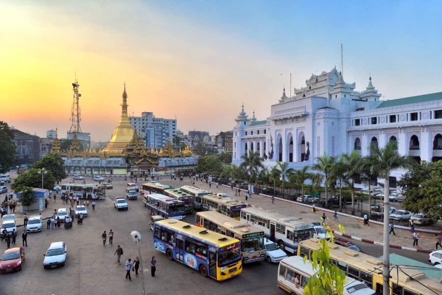 Myanmar Yangon sule pagode centrum 2