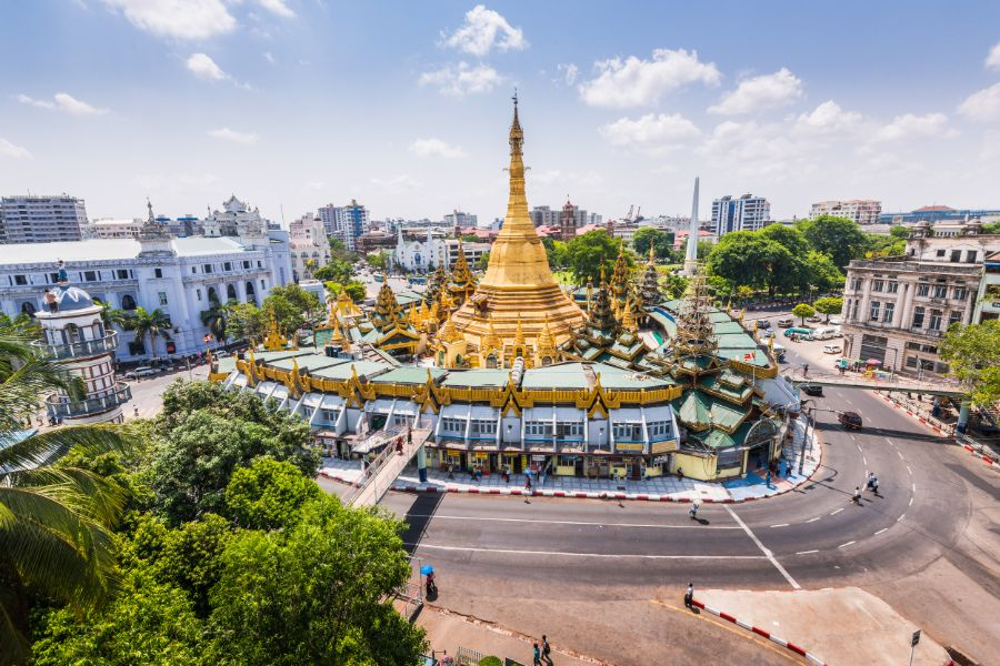 Myanmar Yangon sule pagode centrum