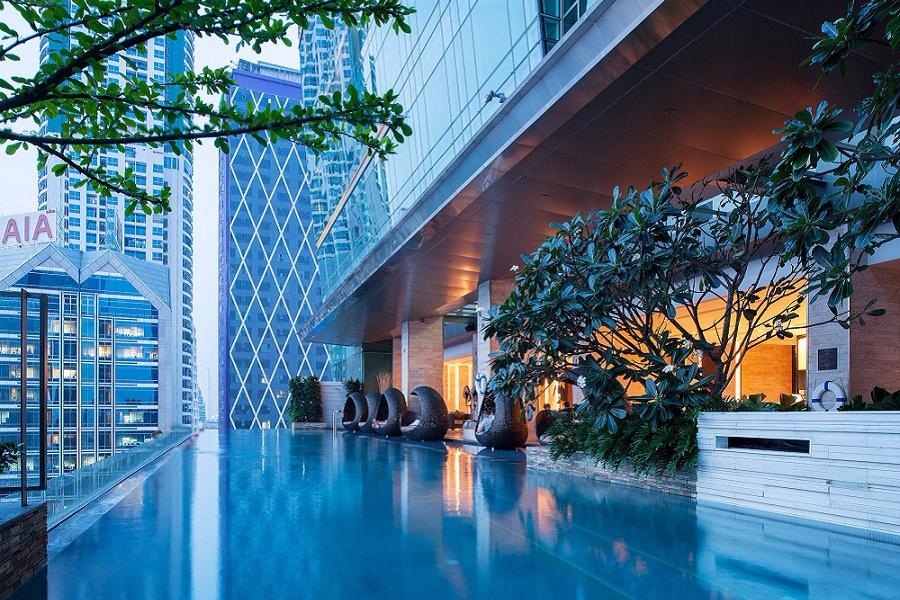 Thailand Bangkok Hotel Eastin Grand Sathorn Bangkok zwembad