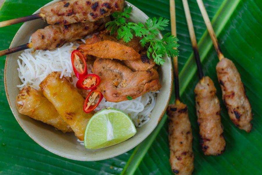 Vietnam Algemeen Bun thit nuong