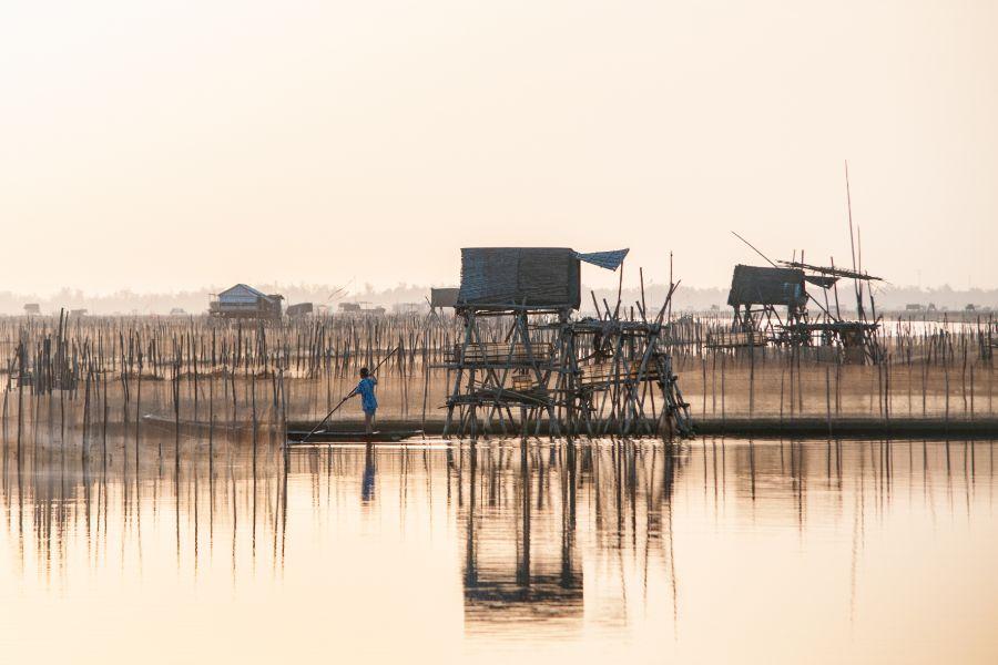 Vietnam Cuon dorpje parelmoeren dorp