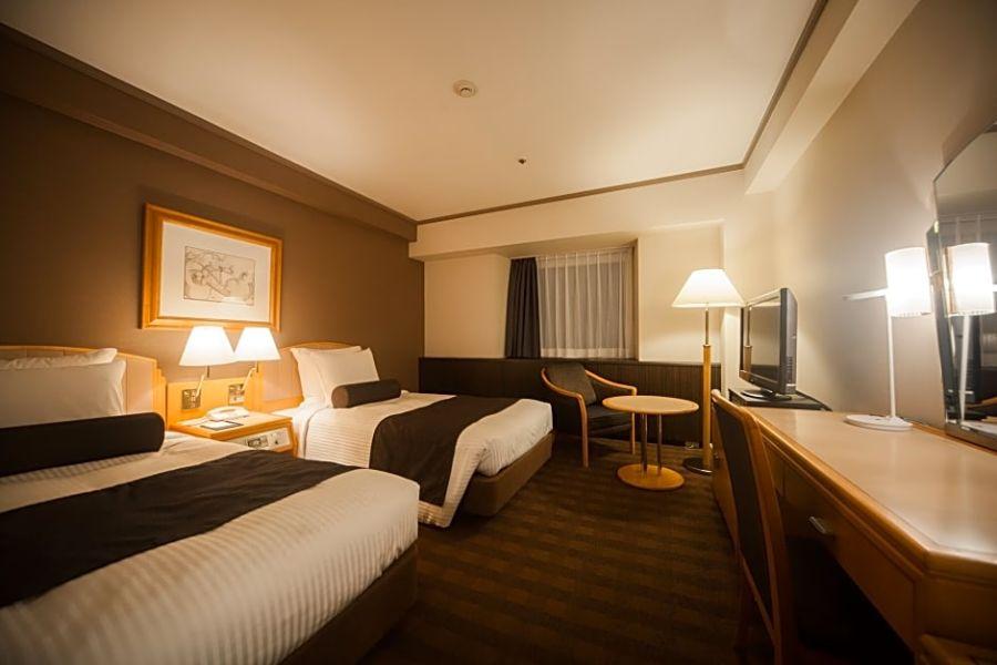 Japan Matsuyama ANA hotel slaapkamer 1
