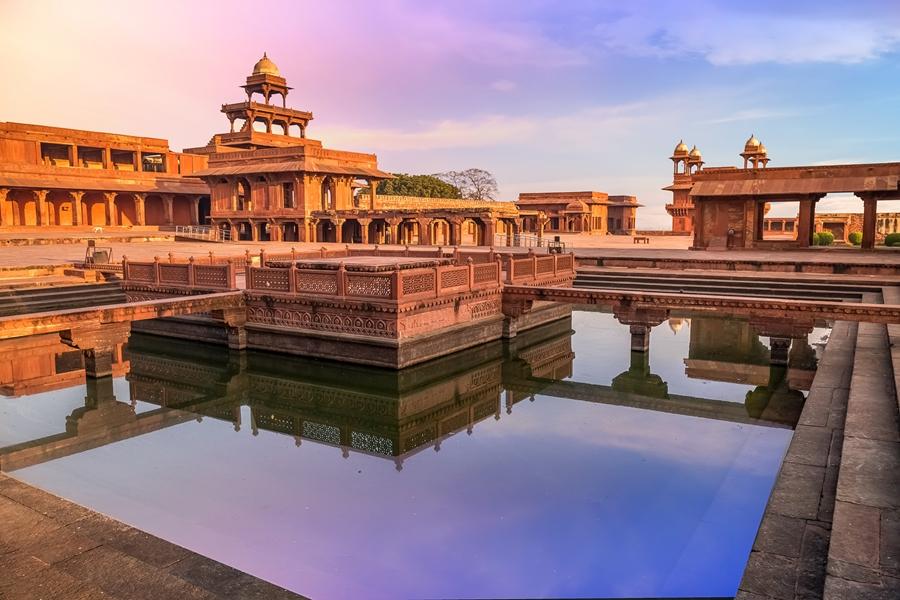 India Agra Fatehpur Sikri gebouw