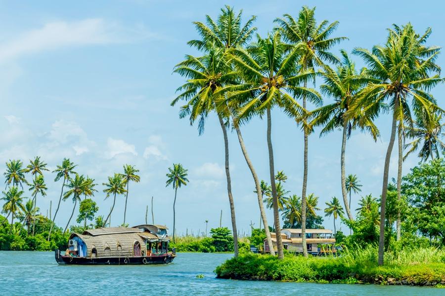 India Alleppey Houseboat Kerala backwaters boot 2
