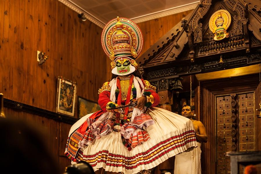 India Cochin Kochi Fort Kathakali show voorstelling
