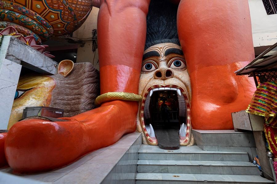 India Delhi Hanuman nabij Jhandewala metro station