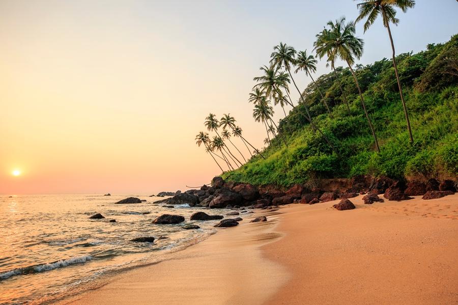 India Goa strand zonsondergang