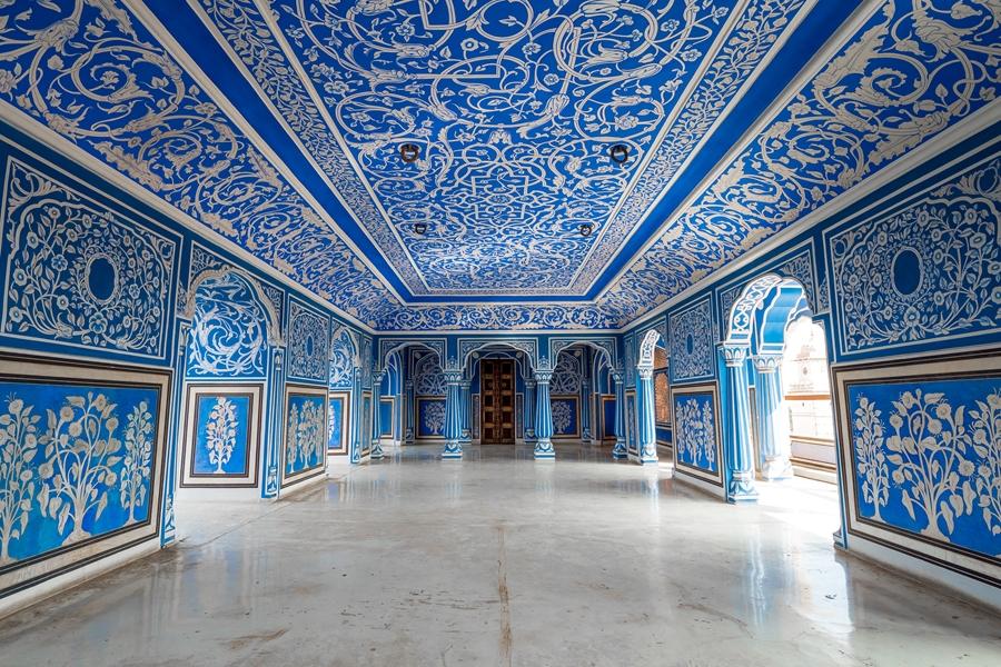 India Jaipur Blauwe paleis