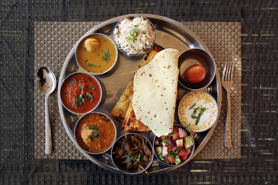 India Jaipur Eten lunch