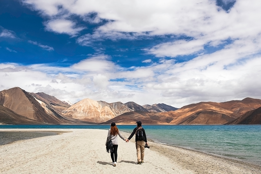 India Ladakh Pangong lake meer koppel