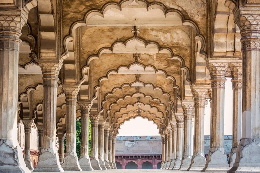 India Taj Mahal Agra Red fort