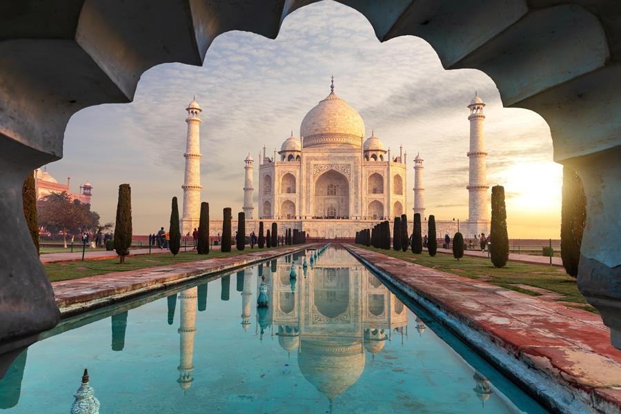 India Taj Mahal Agra boog