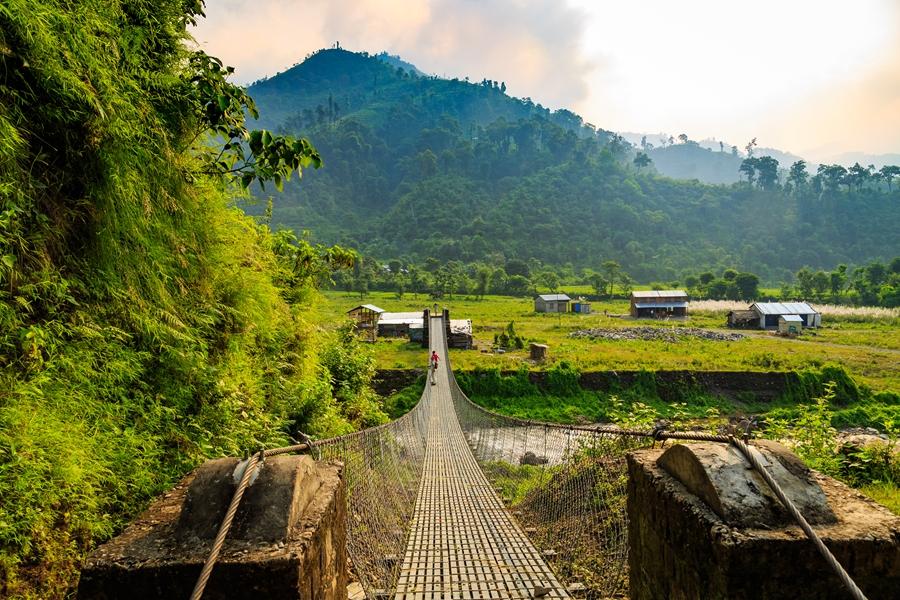Nepal Chitwan National Park Brug