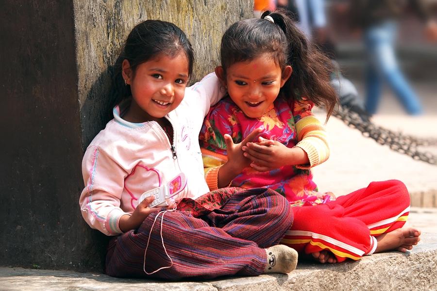 Nepal Kathmandu meisjes