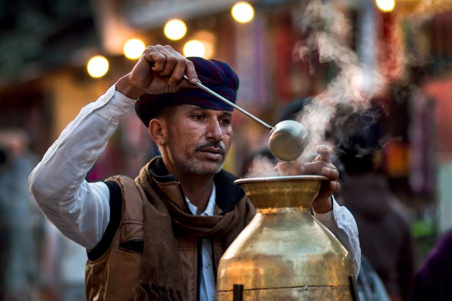 Tea vendor Rajasthan India