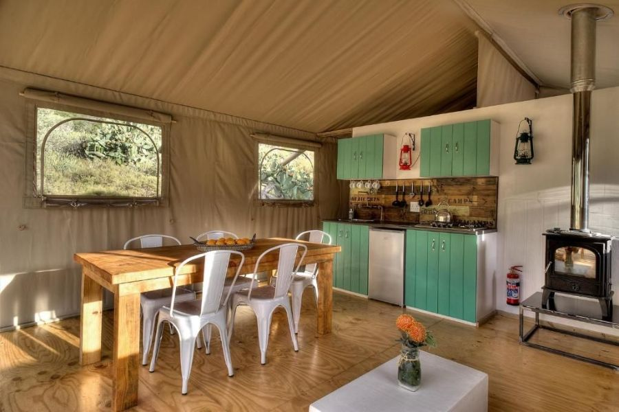 AfriCamps at Ingwe Plettenberg Bay Zuid Afrika keuken