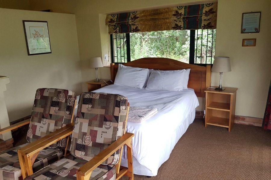 Giants Castle Resort Centraal Drakensberg Zuid Afrika slaapkamer