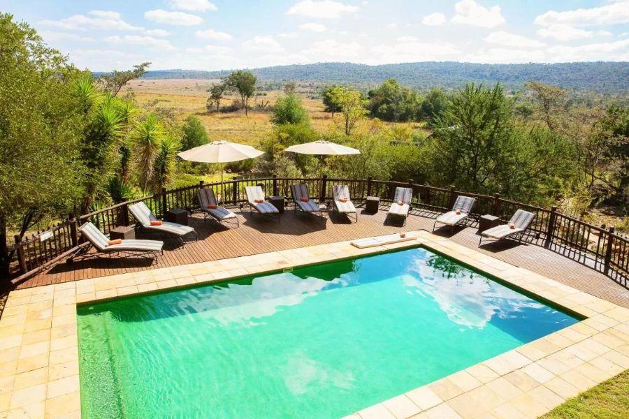 Kololo Game Reserve Zuid-Afrika zwembad