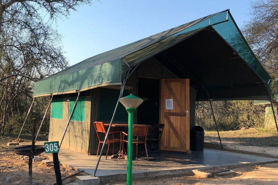 Skukuza Rest Camp Kruger NP Zuid Afrika tent