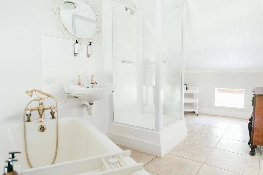 Knorhoek Country Guesthouse Stellenbosch Zuid-Afrika badkamer
