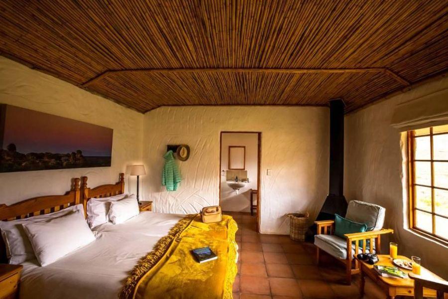 Mount Ceder Lodge Cederbergen Zuid-Afrika slaapkamer