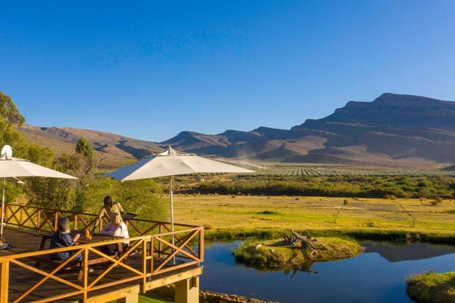 Mount Ceder Lodge Cederbergen Zuid-Afrika terras met uitzicht