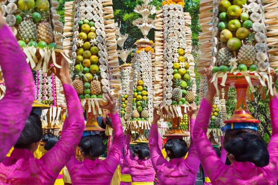 Ceremonie in Ubud